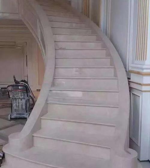 弧形楼梯大理石安装